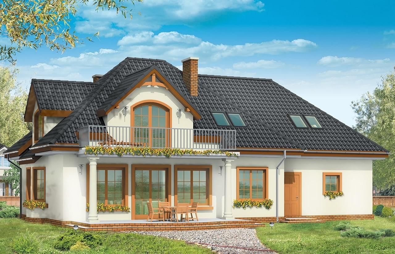 Projekt domu Saga 3 - wizualizacja tylna