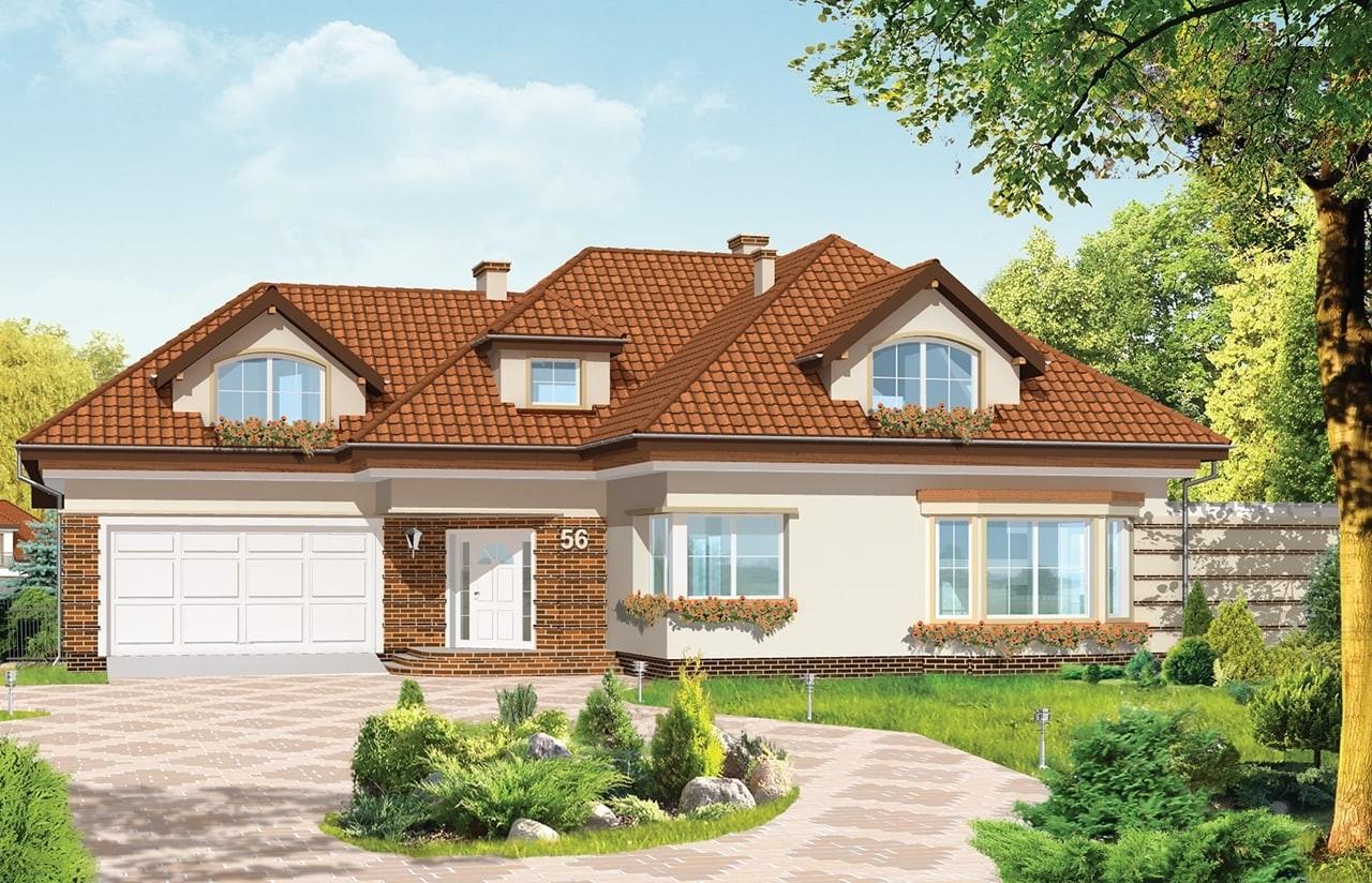 Projekt domu Siedziba - wizualizacja frontowa