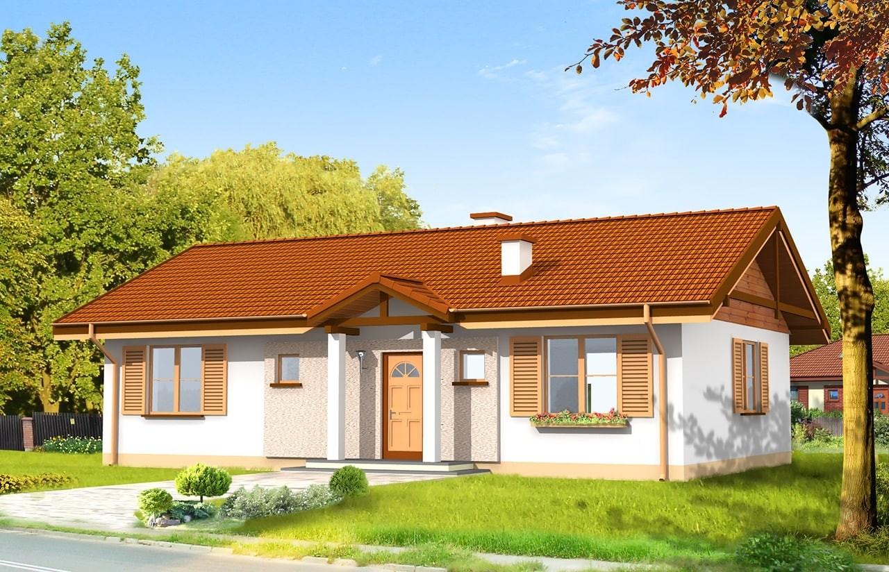 Projekt domu Słoneczny - wizualizacja frontowa