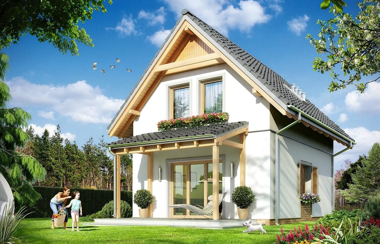Projekt domu Smyk 2 - wizualizacja tylna