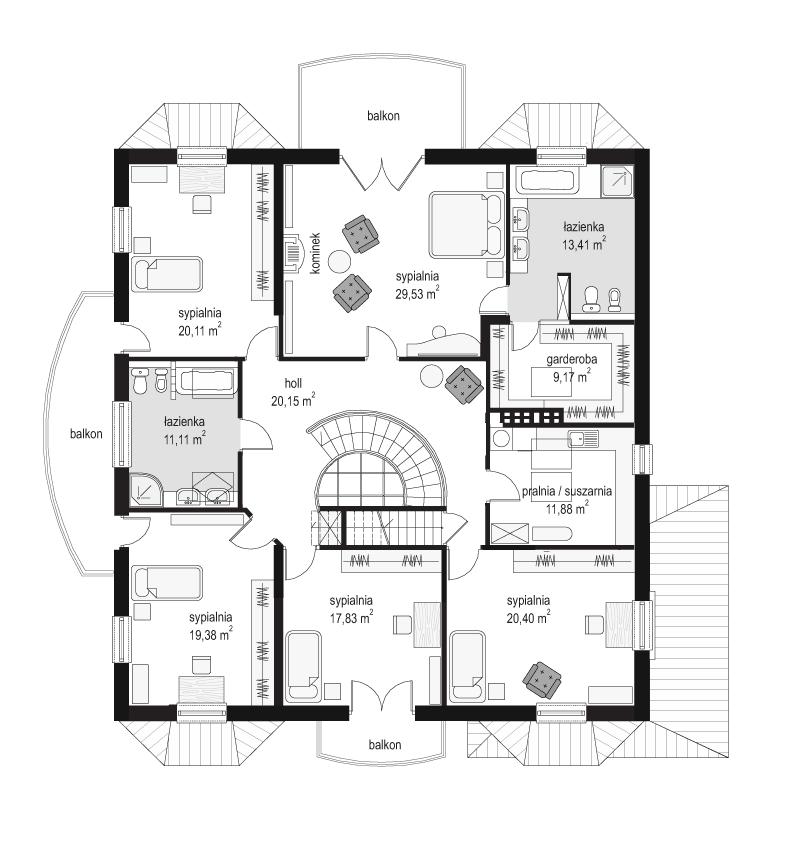 Sokół - rzut piętra