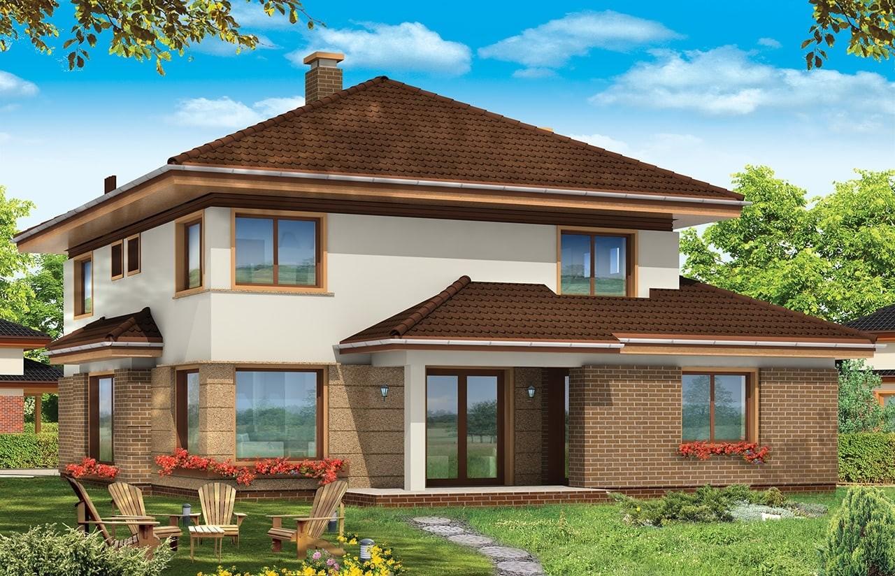 Projekt domu Sonet - wizualizacja tylna