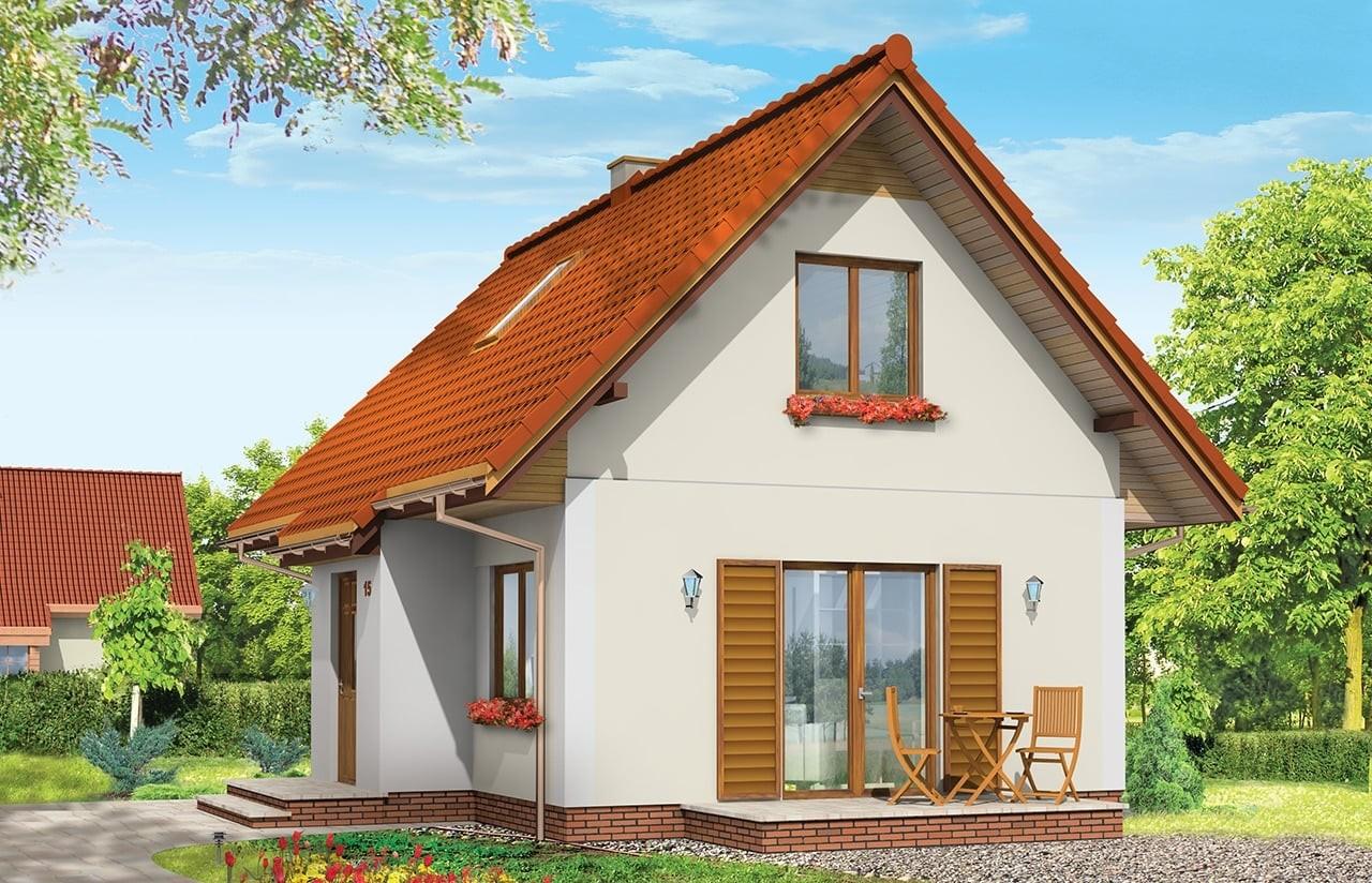Projekt domu Sosenka 3 - wizualizacja tylna