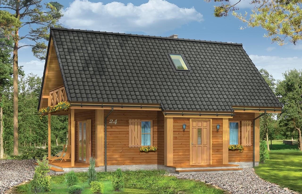 Projekt domu Sosenka 4 - wizualizacja frontowa