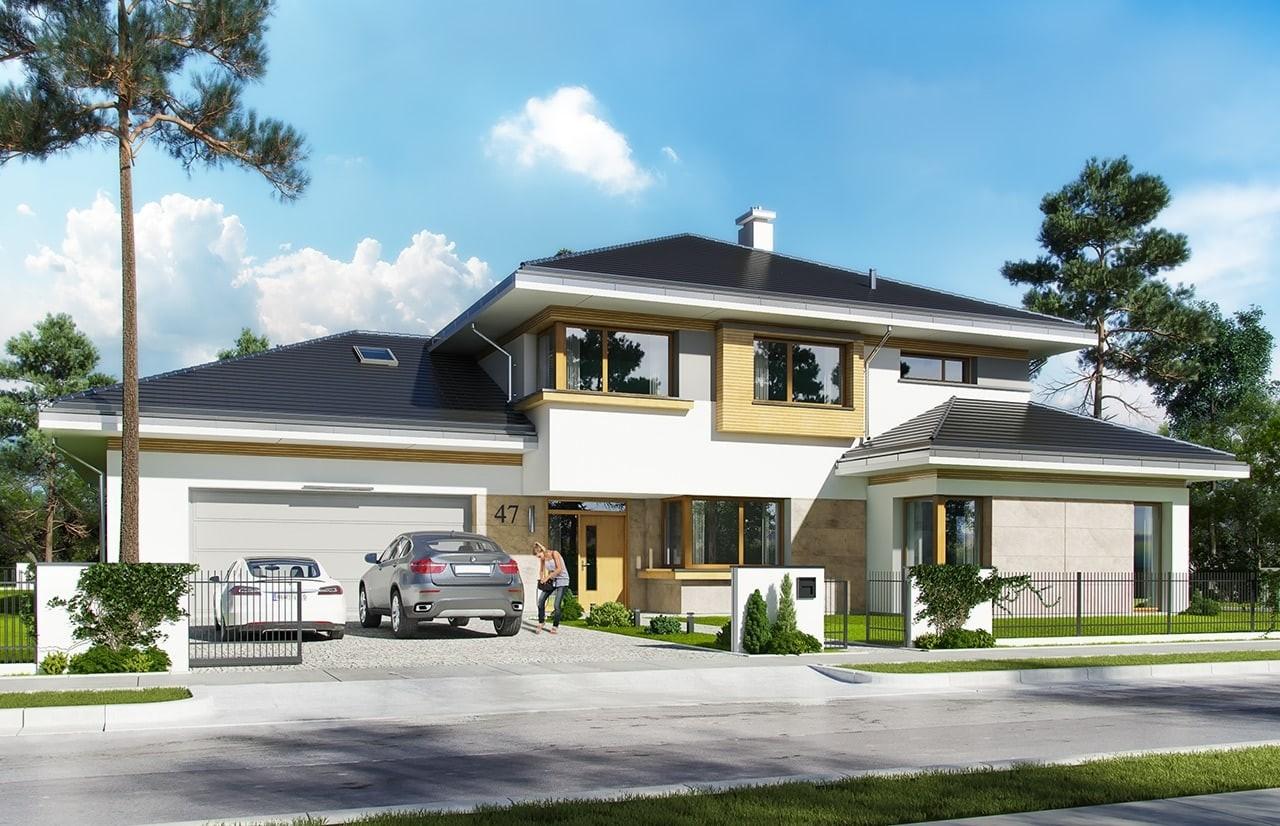 Projekt domu Spokojny Zakątek - wizualizacja frontowa