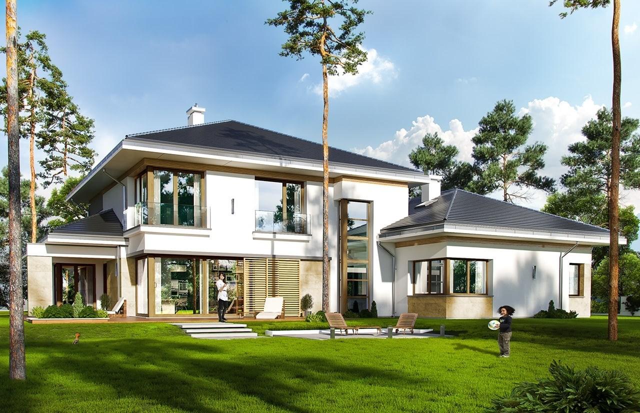Projekt domu Spokojny Zakątek - wizualizacja tylna