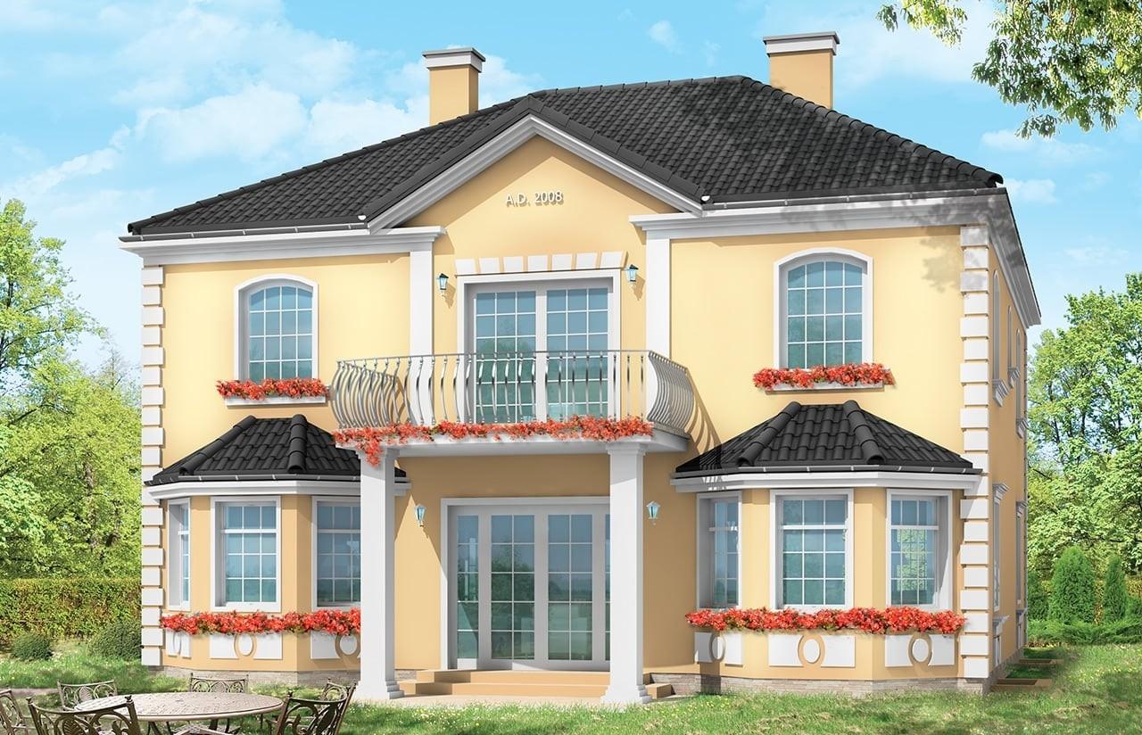 Projekt domu Stylowy - wizualizacja tylna