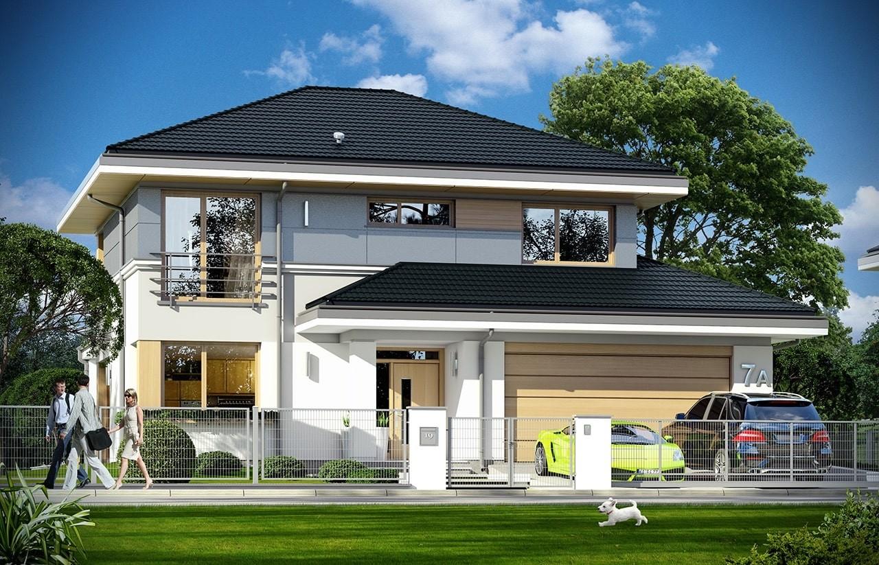 Projekt domu Sydney - wizualizacja frontowa