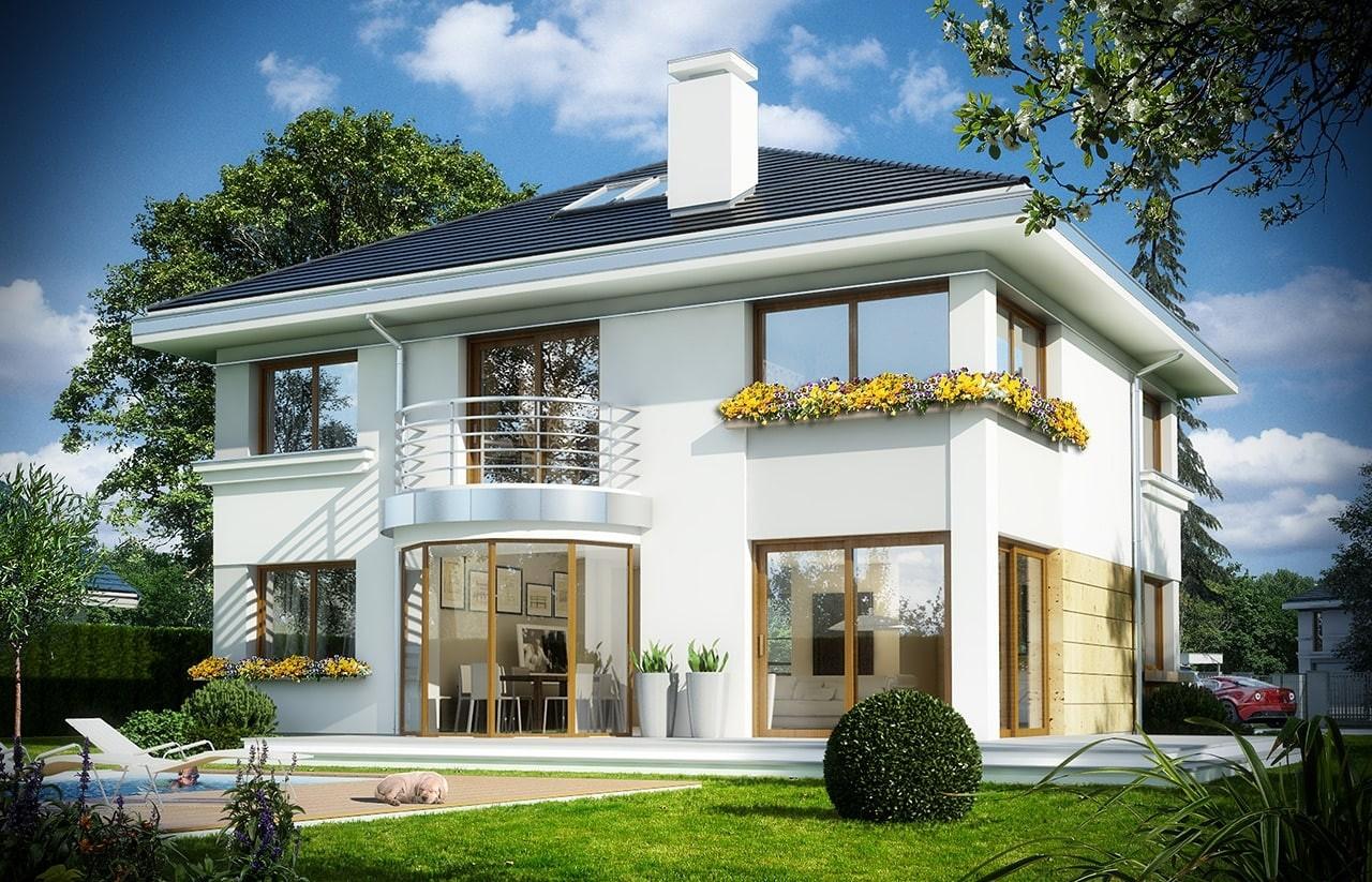 Projekt domu Szafir - wizualizacja tylna