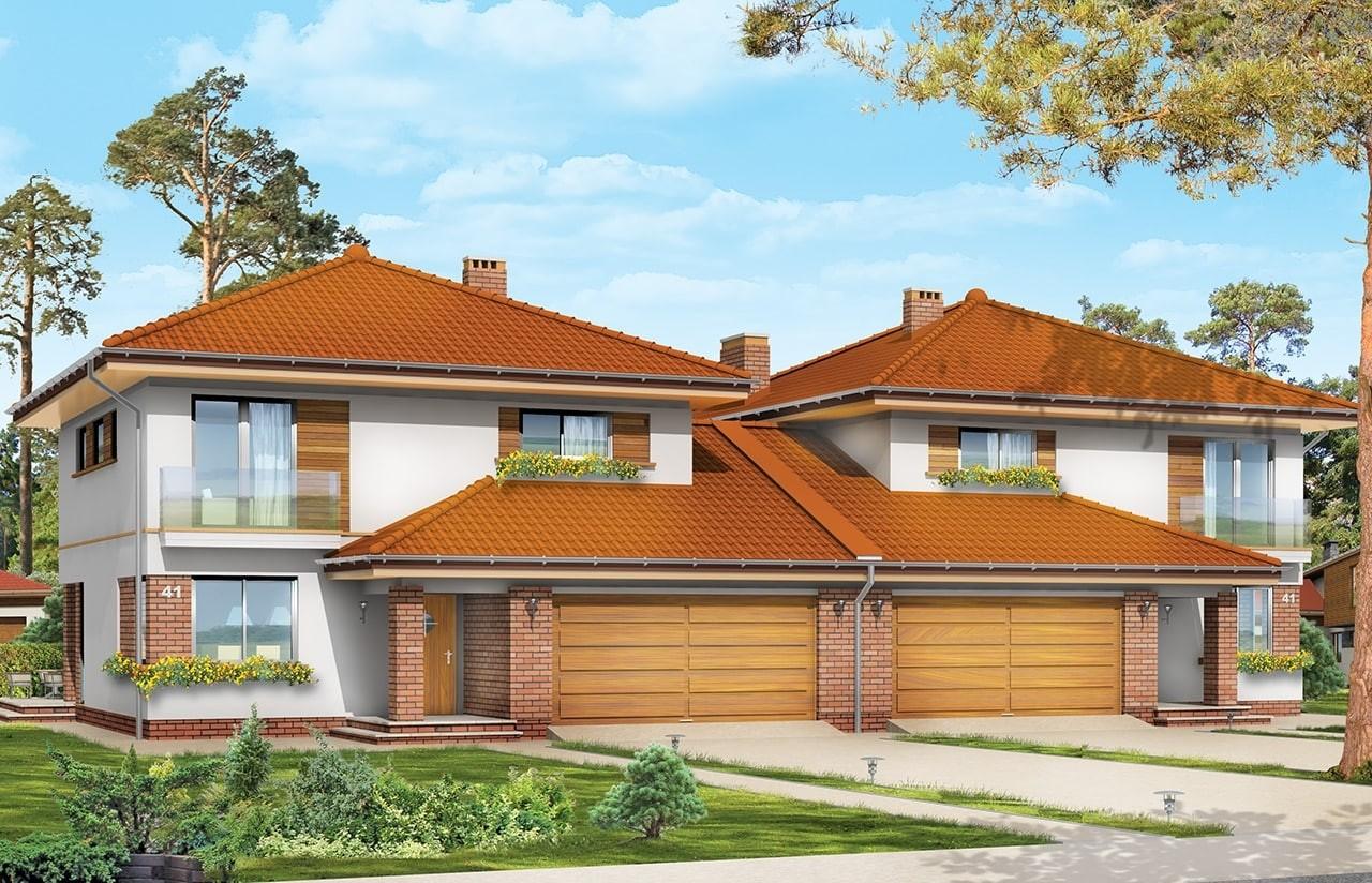 Projekt domu Szmaragd 2 - wizualizacja frontowa