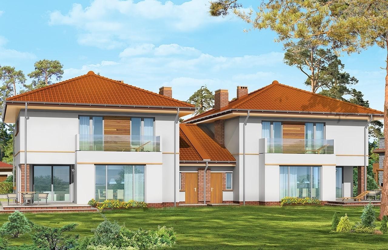 Projekt domu Szmaragd 2 - wizualizacja tylna