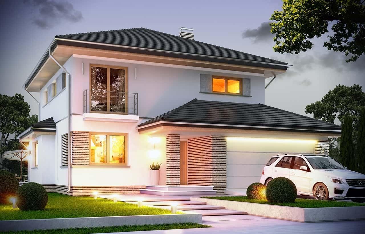 Projekt domu Szmaragd 4 - wizualizacja frontowa