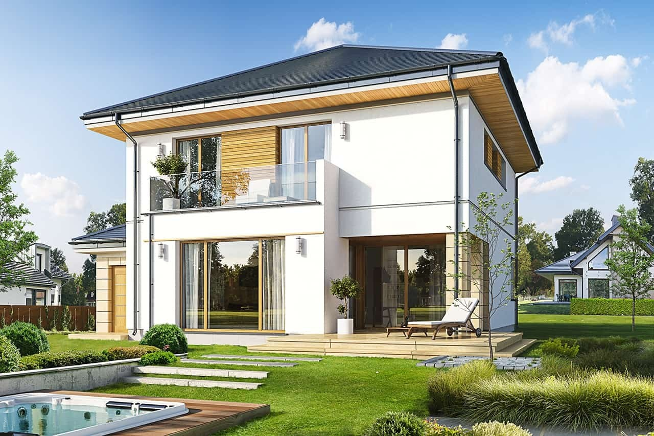 Projekt domu Szmaragd 6 - wizualizacja tylna
