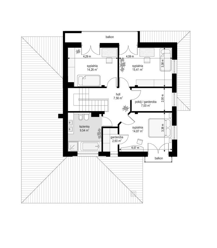 Szmaragd 5 - rzut piętra odbicie lustrzane