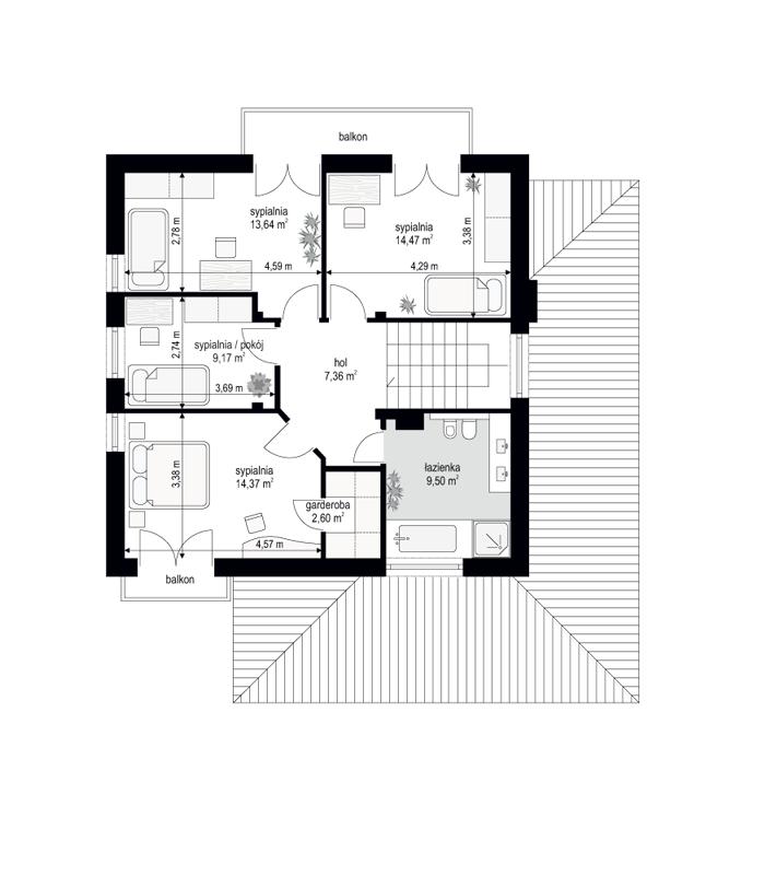 Szmaragd 6 - rzut piętra