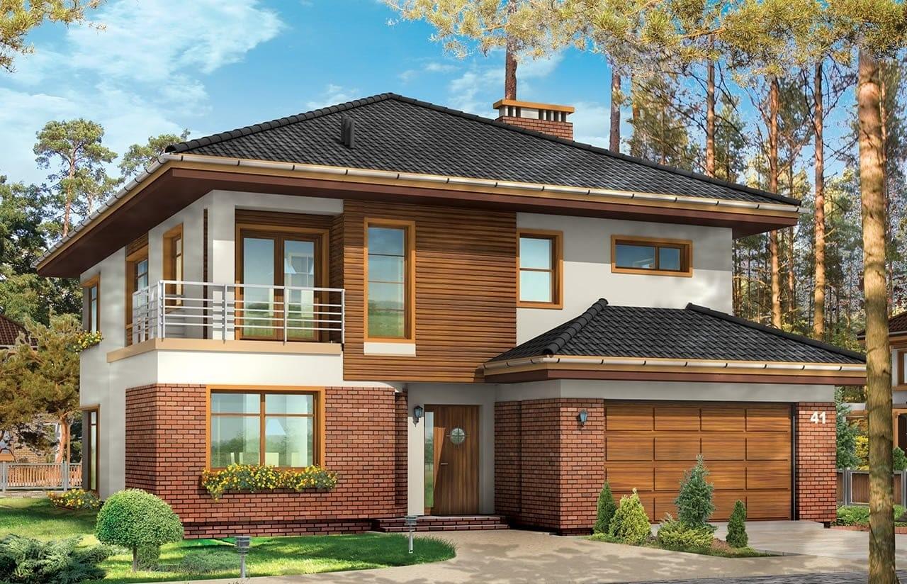 Projekt domu Topaz 2 - wizualizacja frontowa