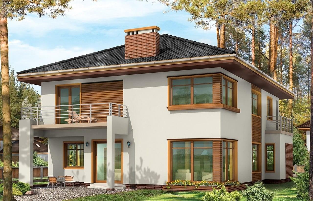 Projekt domu Topaz 2 - wizualizacja tylna