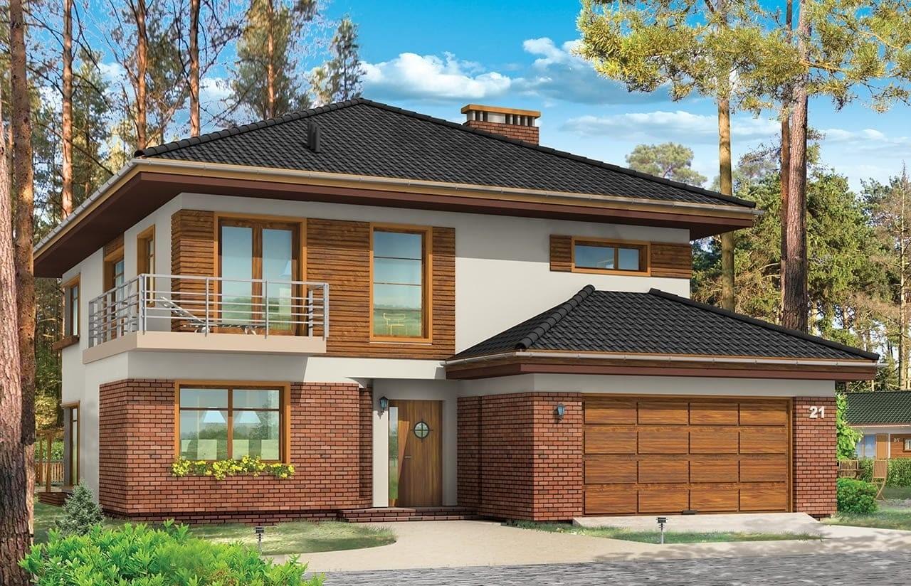 Projekt domu Topaz 3 - wizualizacja frontowa