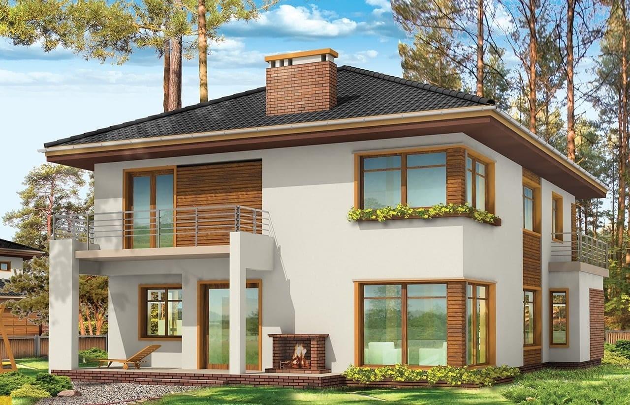 Projekt domu Topaz 3 - wizualizacja tylna