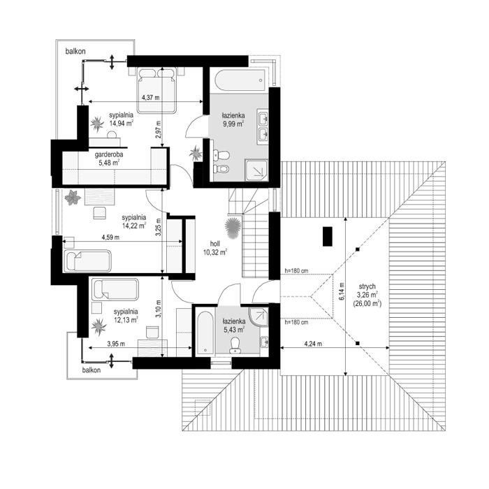 Turkus - rzut piętra