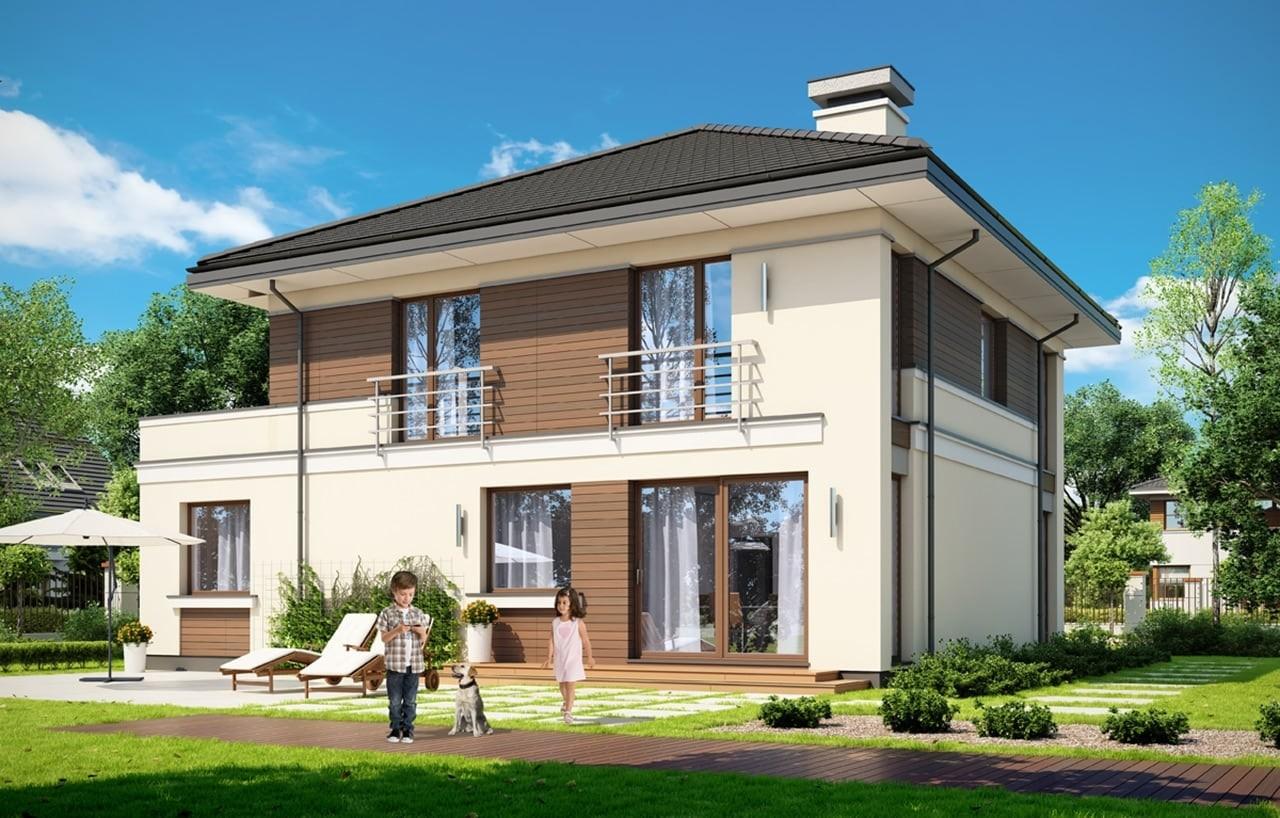 Projekt domu Tytan 3 - wizualizacja tylna