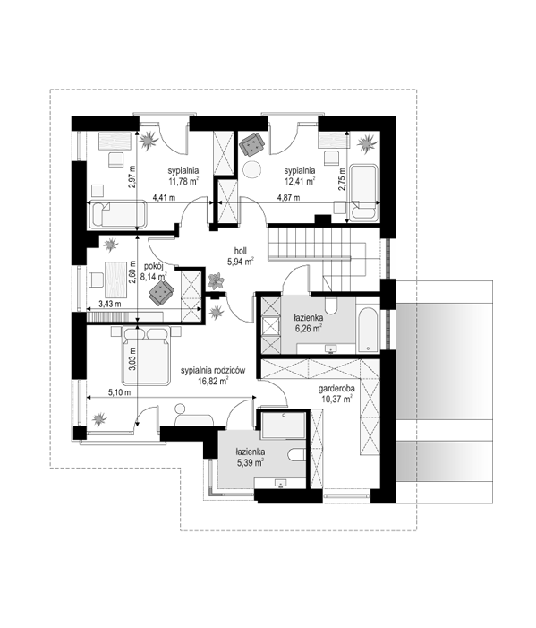 Tytan 4 - rzut piętra