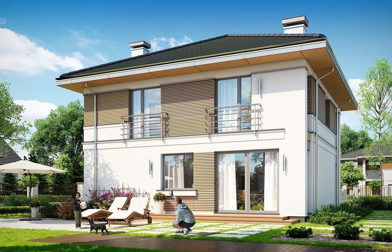 Projekt domu Tytan 4 - wizualizacja tylna