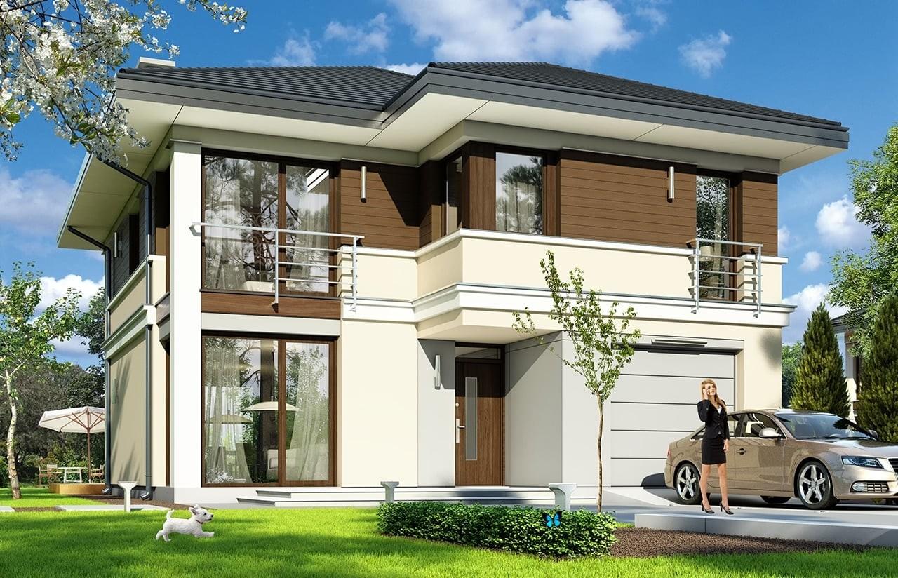 Projekt domu Tytan - wizualizacja frontowa