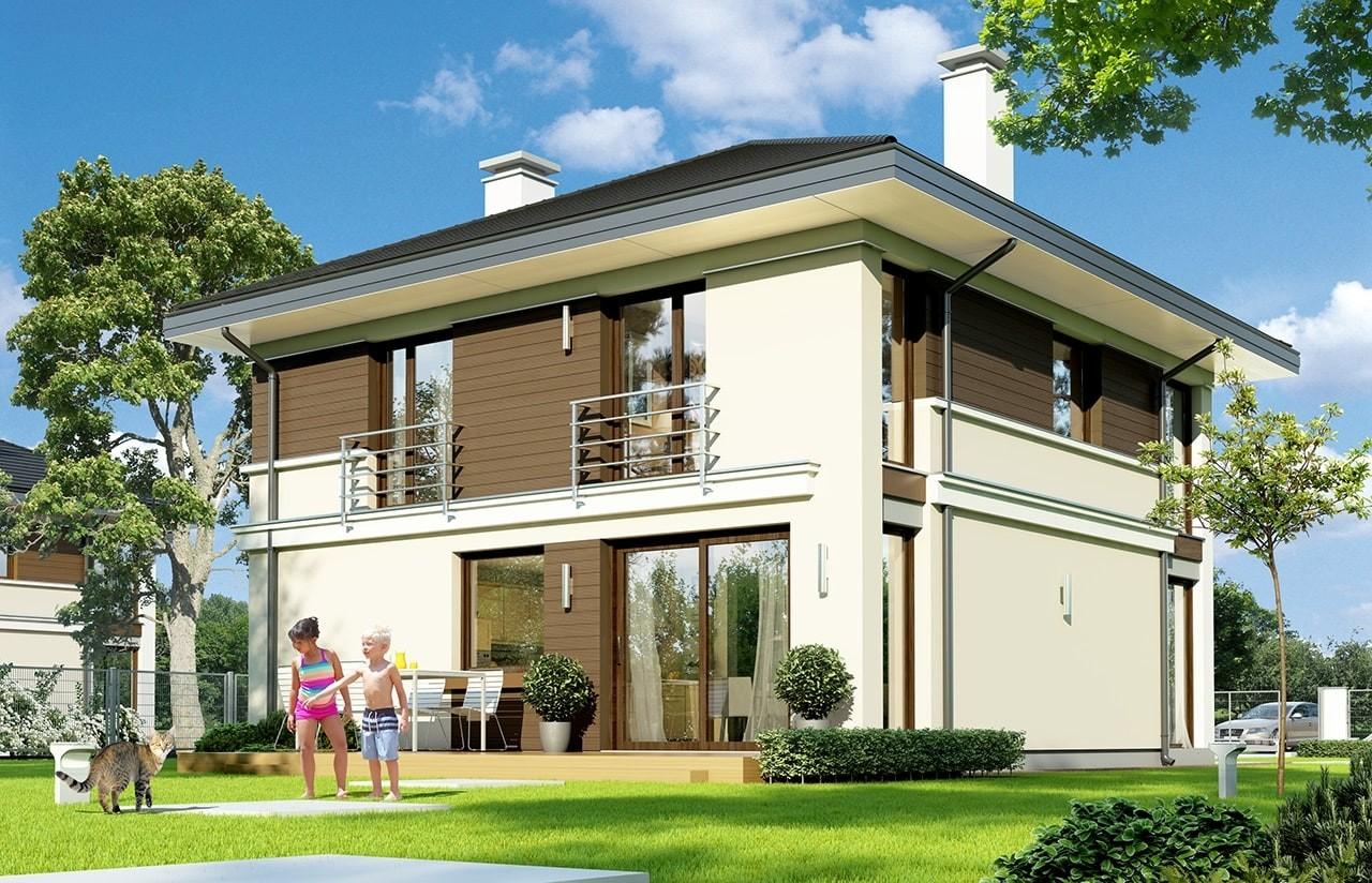 Projekt domu Tytan - wizualizacja tylna