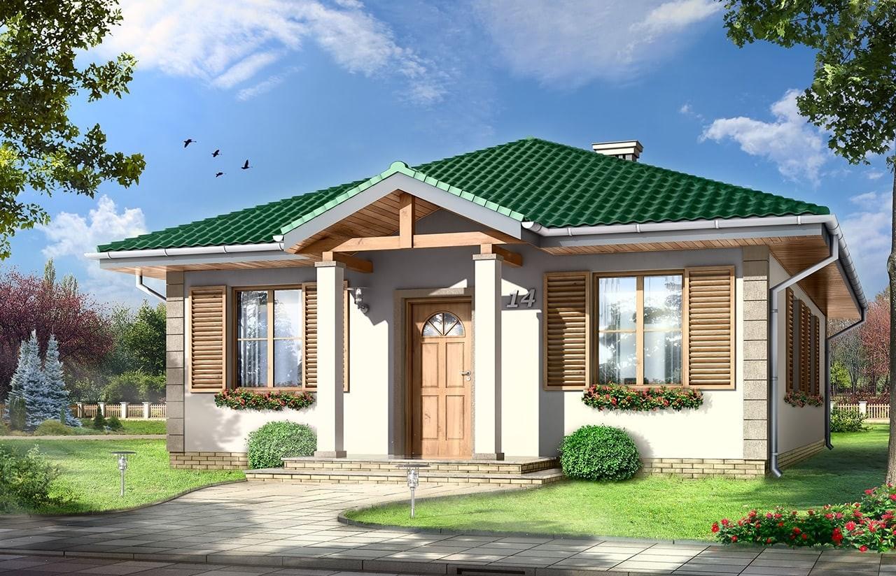 Projekt domu Urwis wizualizacja frontowa