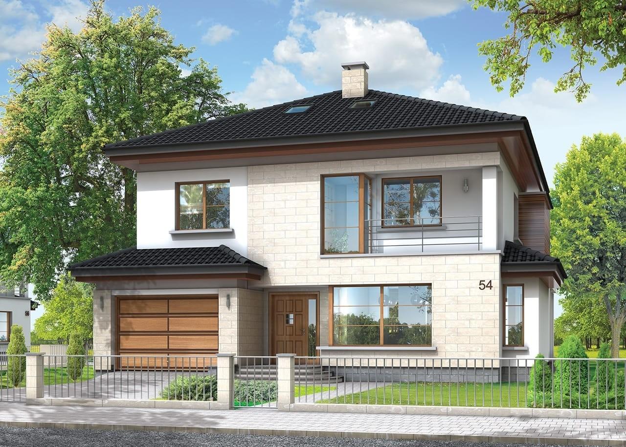 Projekt domu Vega - wizualizacja frontowa