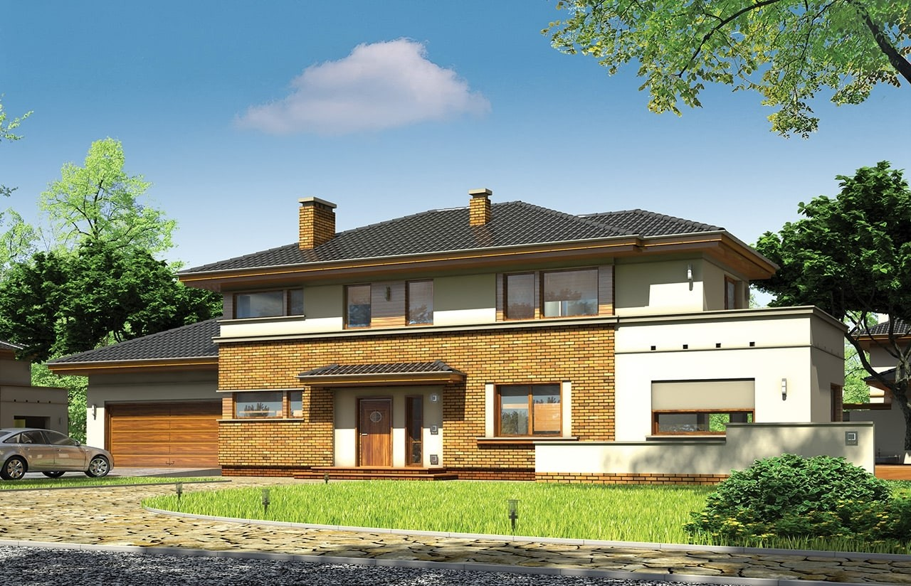 Projekt domu Verona - wizualizacja frontowa