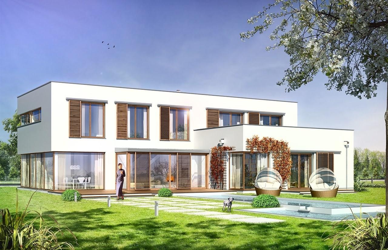 Projekt domu Vertigo - wizualizacja tylna