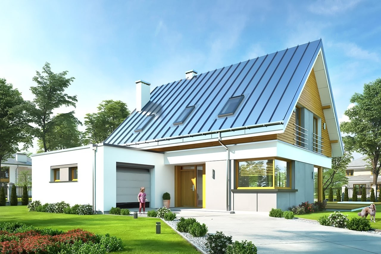 Projekt domu Viking 2 - wizualizacja frontowa