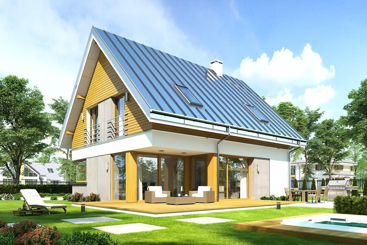 Projekt domu Viking 2 - wizualizacja tylna