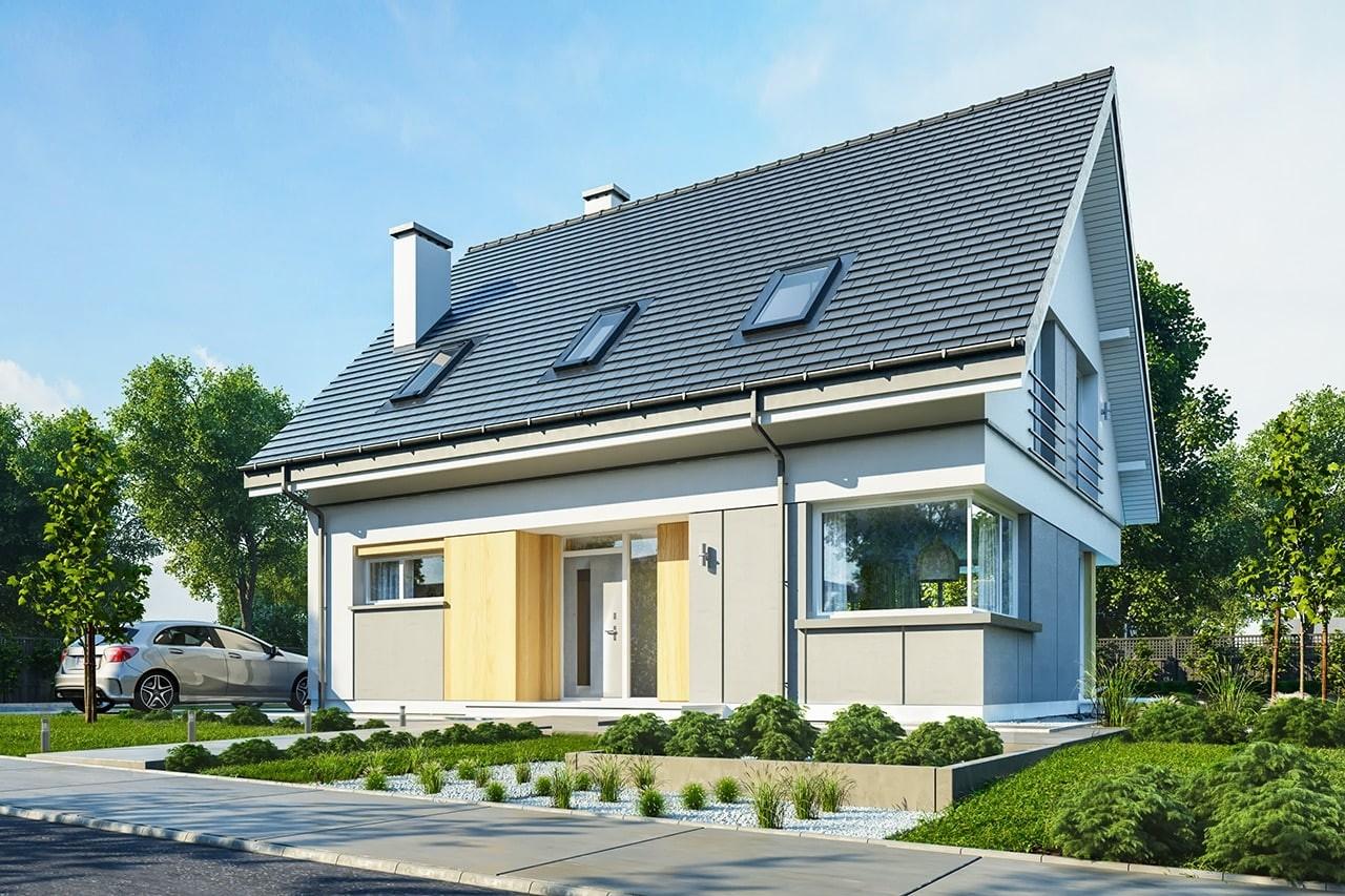 Projekt domu Viking 3 - wizualizacja frontowa