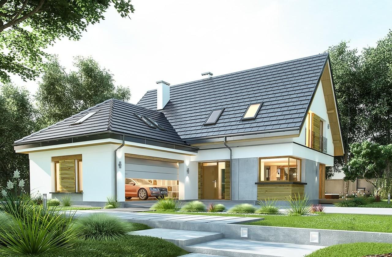 Projekt domu Viking 4 - wizualizacja frontowa
