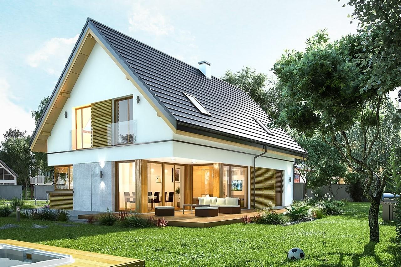 Projekt domu Viking 4 - wizualizacja tylna