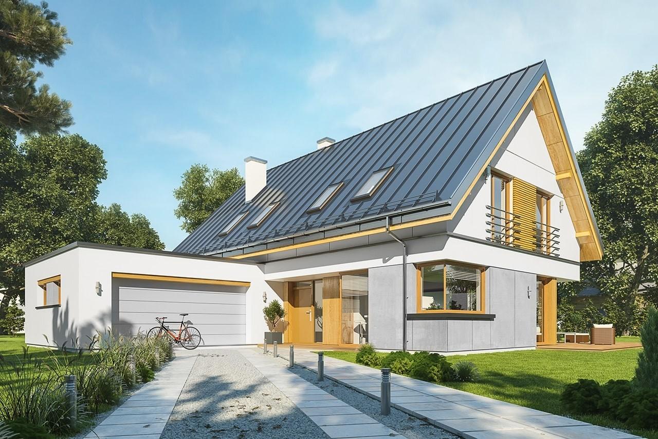Projekt domu Viking 5 - wizualizacja frontowa