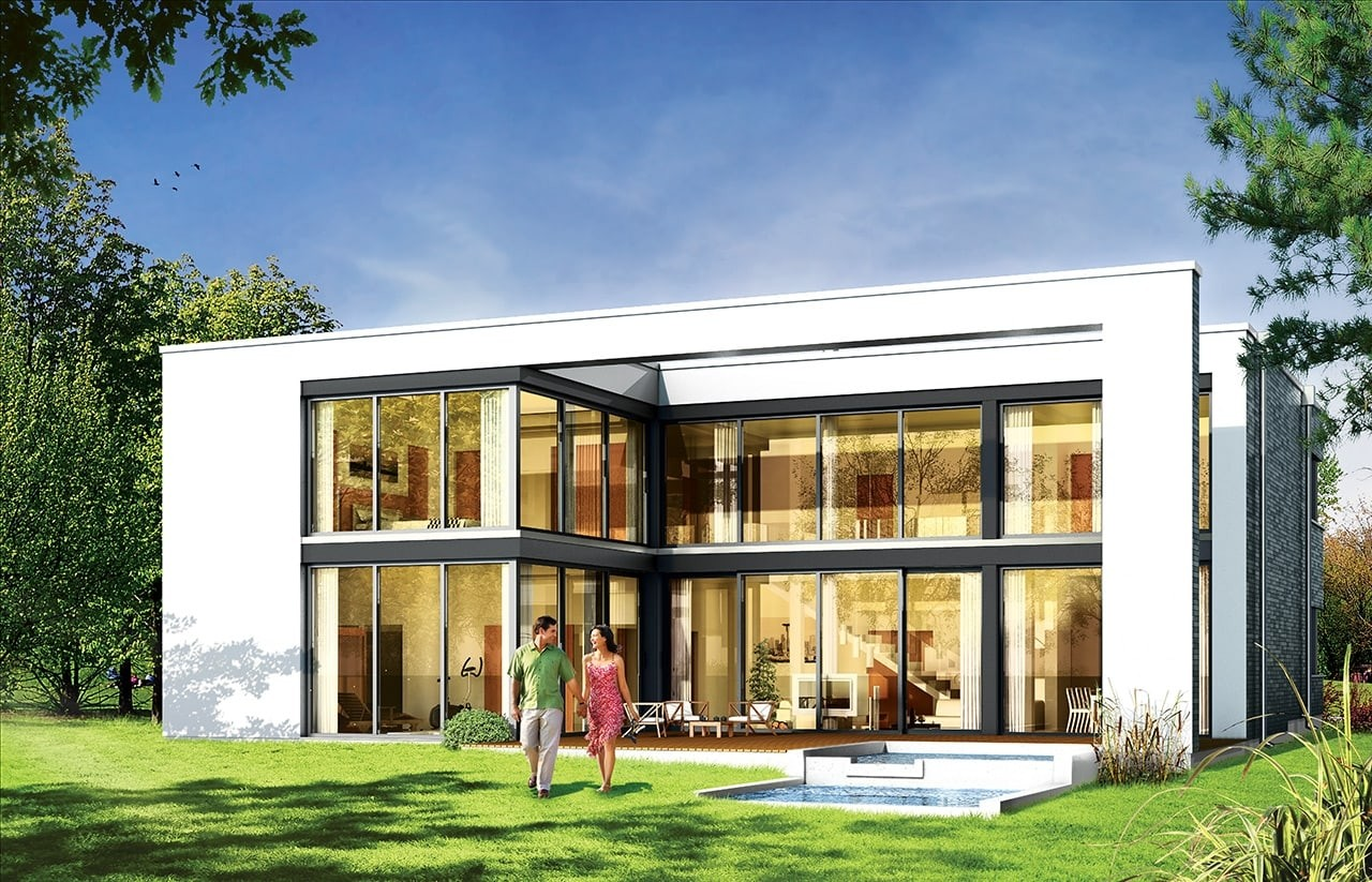 Projekt domu Villa Nova - wizualizacja tylna