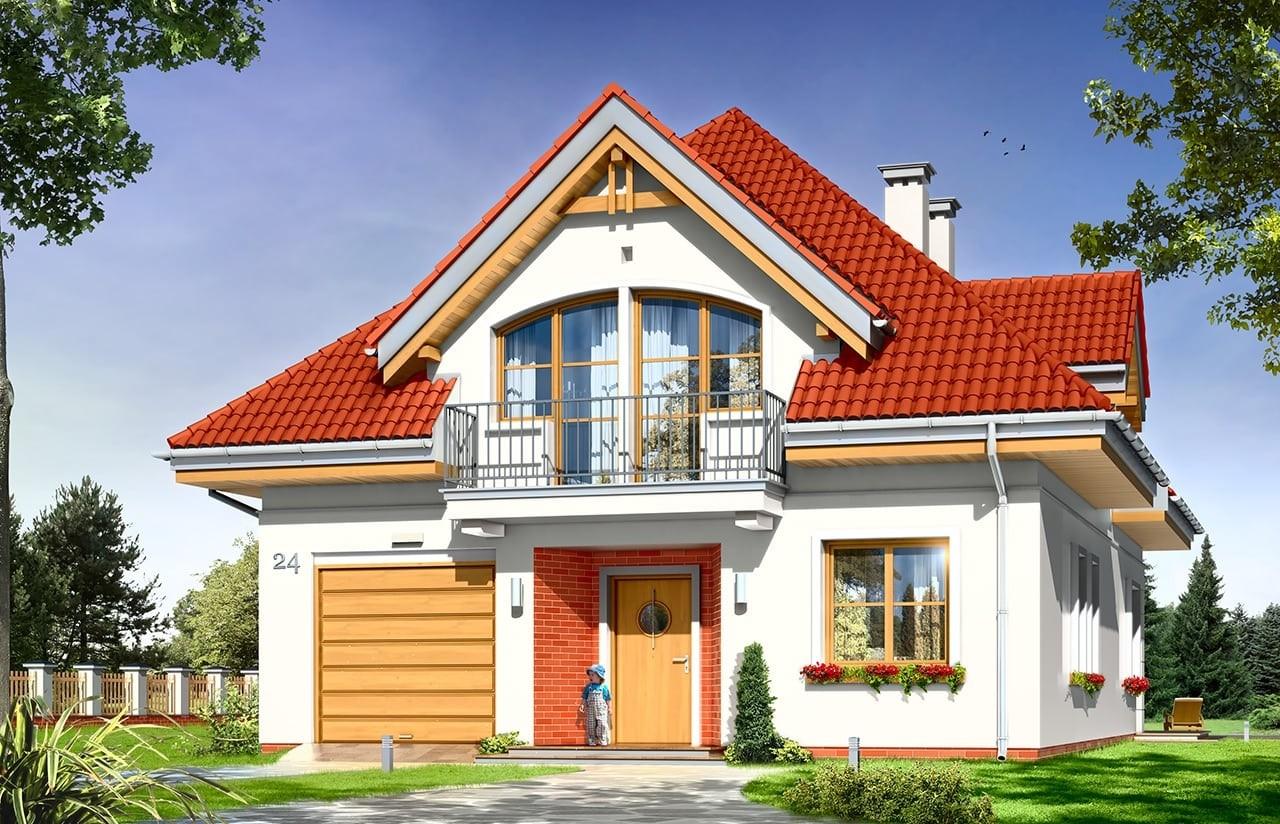 Projekt domu Weronika - wizualizacja frontowa
