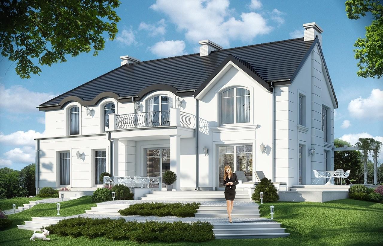 Projekt domu Willa Anna Maria - wizualizacja tylna