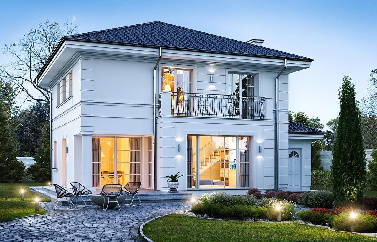 Projekt domu Willa diamentowa - wizualizacja tylna