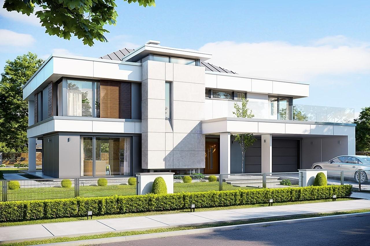 Projekt domu Willa Floryda 2 - wizualizacja frontowa
