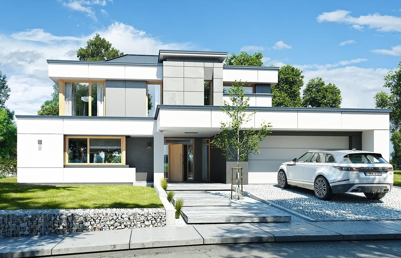 Projekt domu Willa Floryda 3 - wizualizacja frontowa