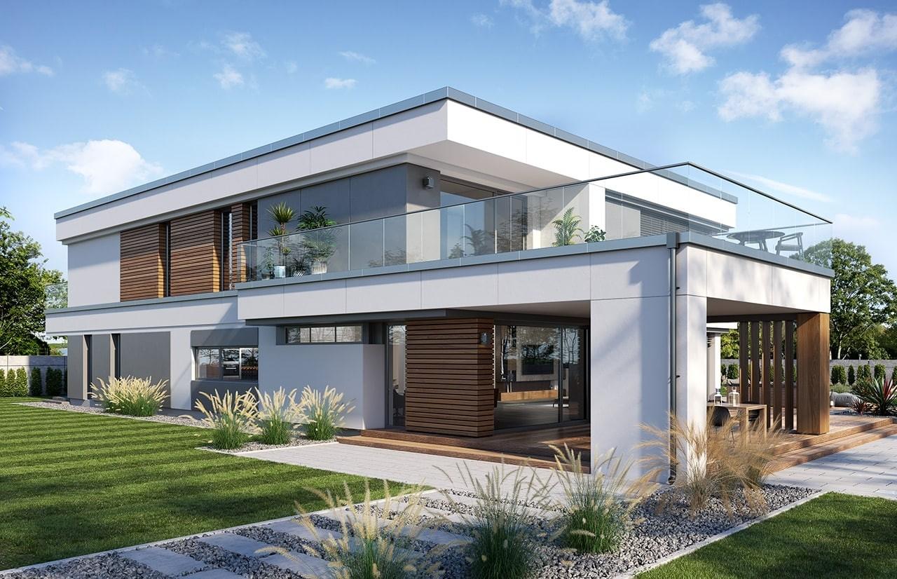 Projekt domu Willa Floryda 5 - wizualizacja tylna 3