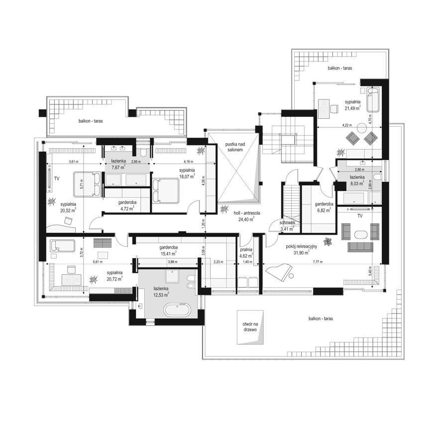 Willa Floryda - rzut piętra