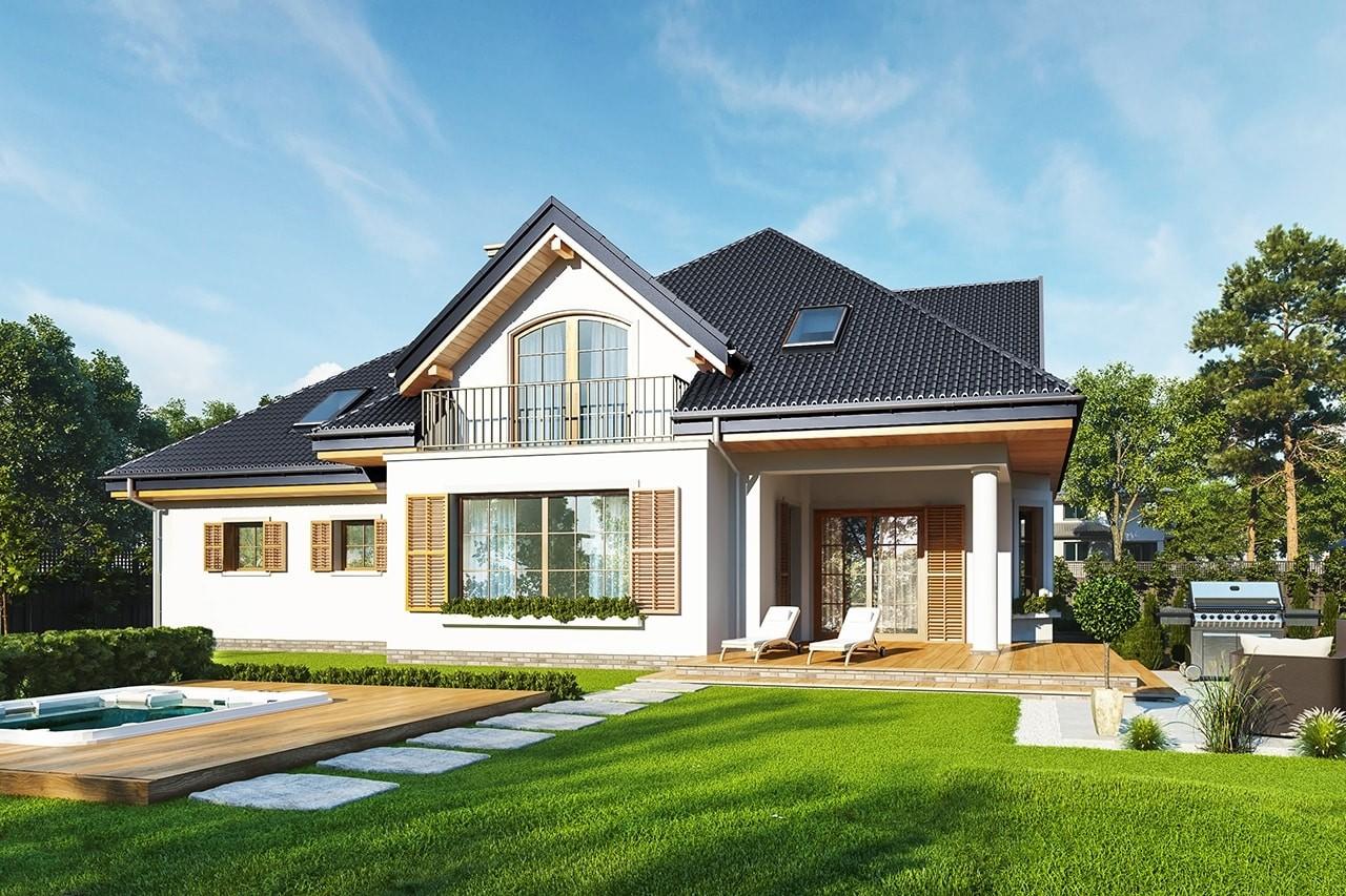 Projekt domu Willa Julia 2 - wizualizacja tylna