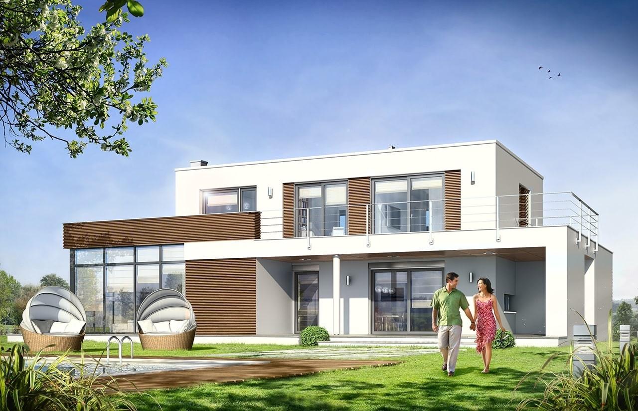 Projekt domu Willa l` Azur - wizualizacja tylna