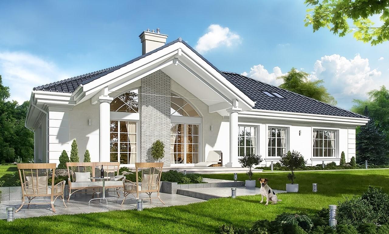 Projekt domu Willa parkowa 2 - wizualizacja tylna